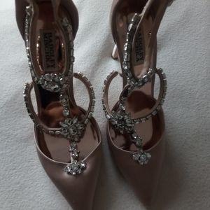 Badgley Mischka Stiletto Rhinestone Heels